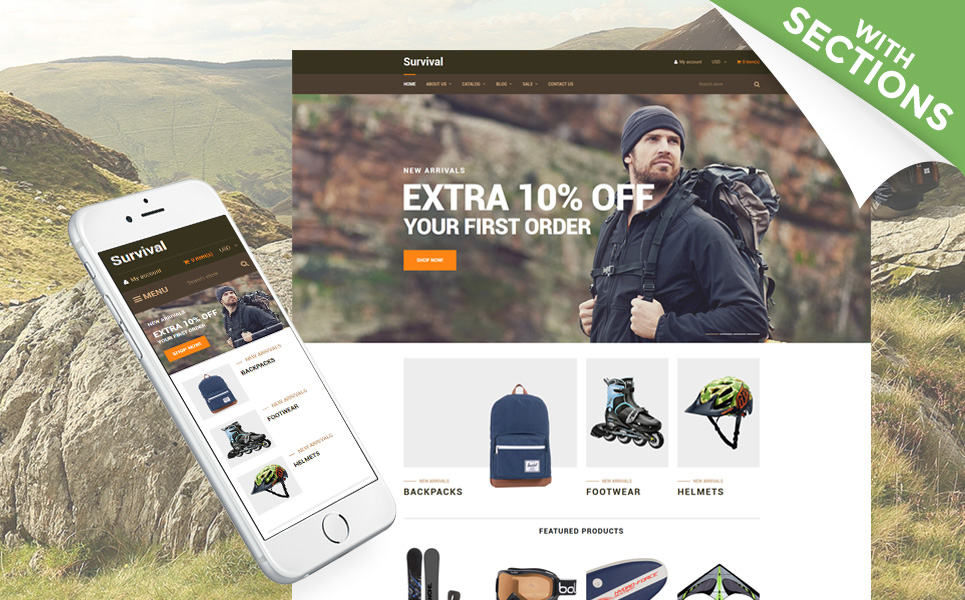 Survivalist (theme for Shopify) Item Picture