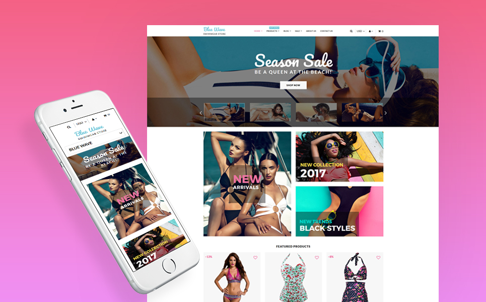 Swimwear Shop (Shopify theme for ecommerce sites) Item Picture