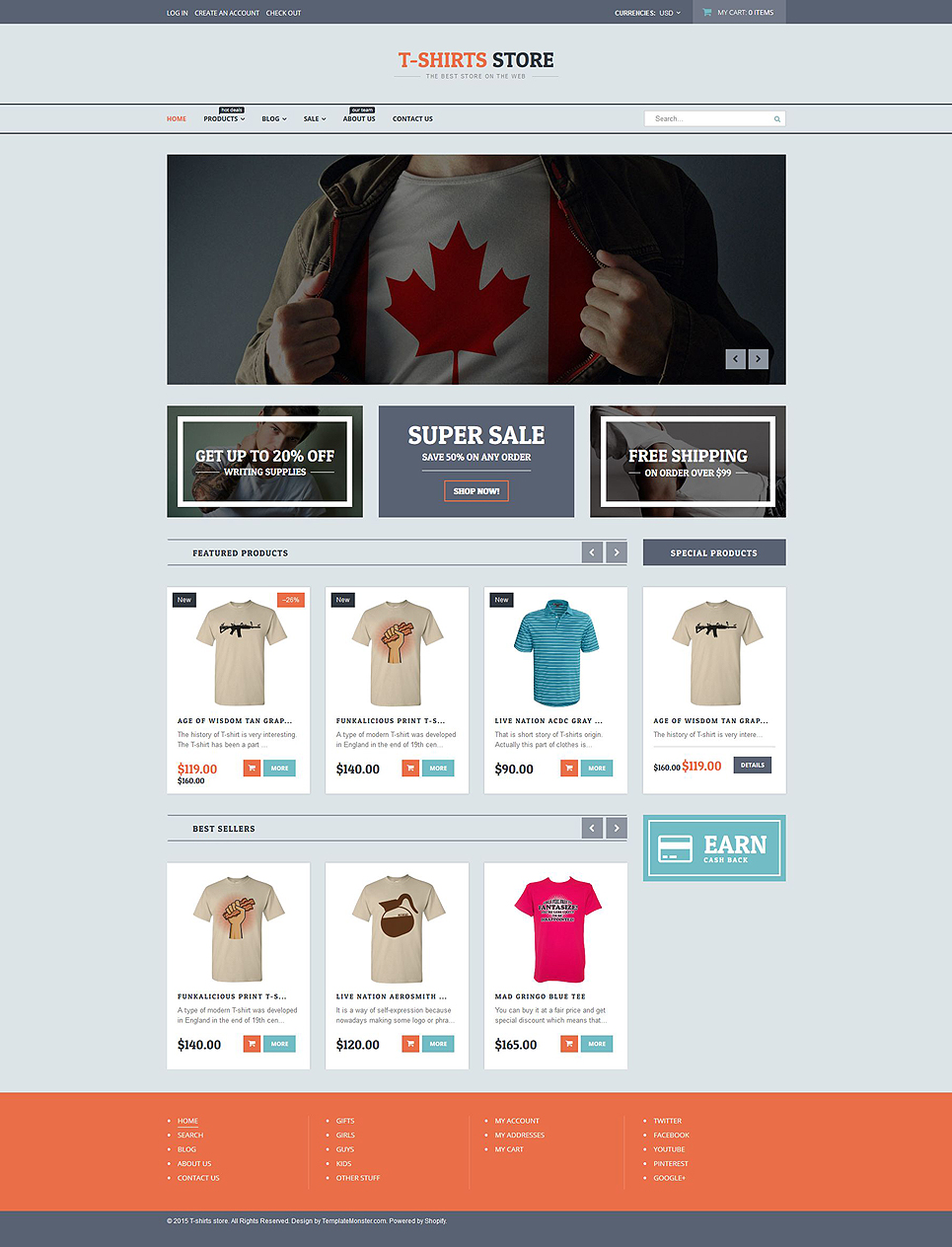 T-shirt Shop (Shopify ecommerce theme) Item Picture