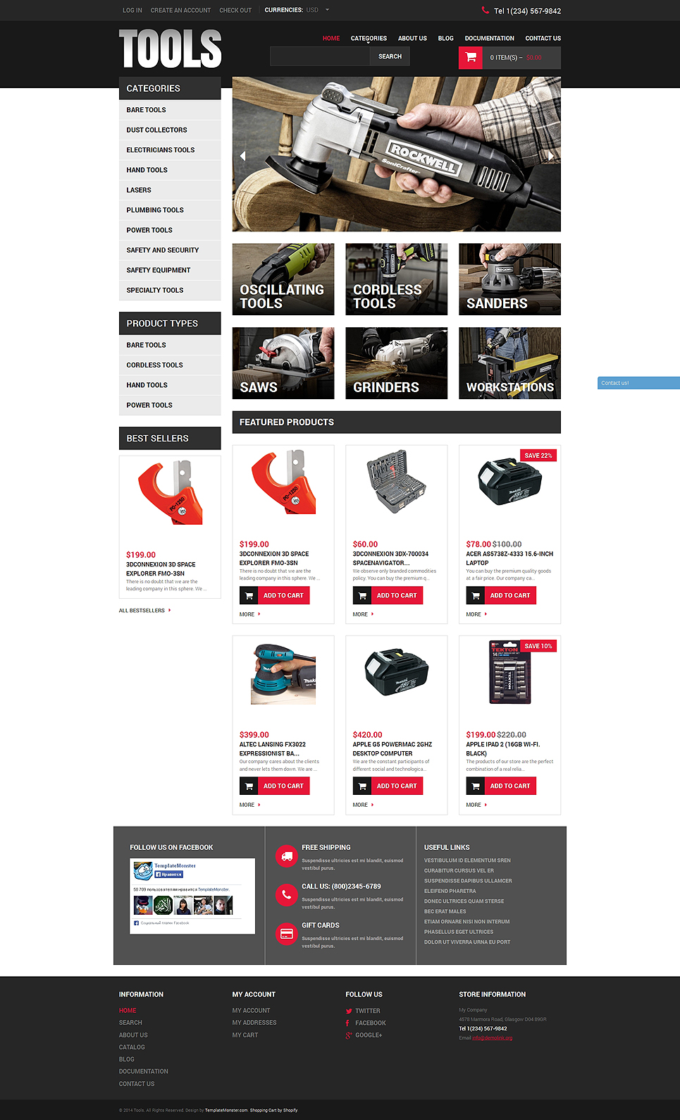 Hammer On (Shopify ecommerce theme) Item Picture