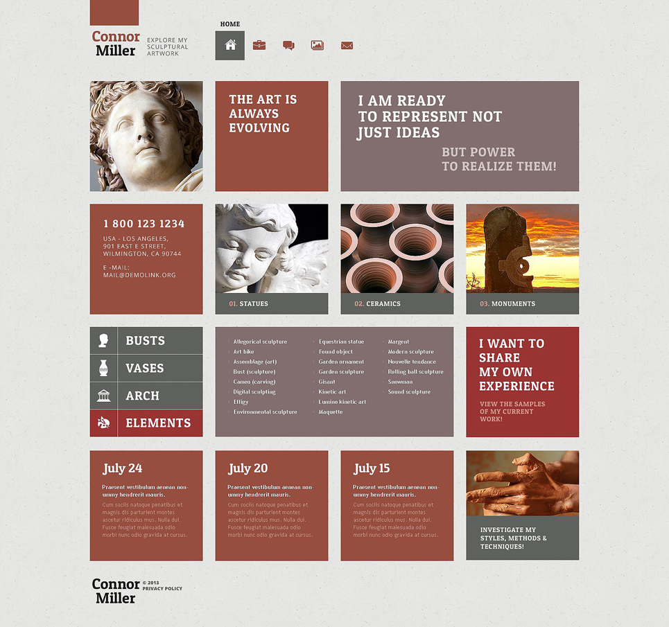 Art Blog (theme for WordPress) Item Picture