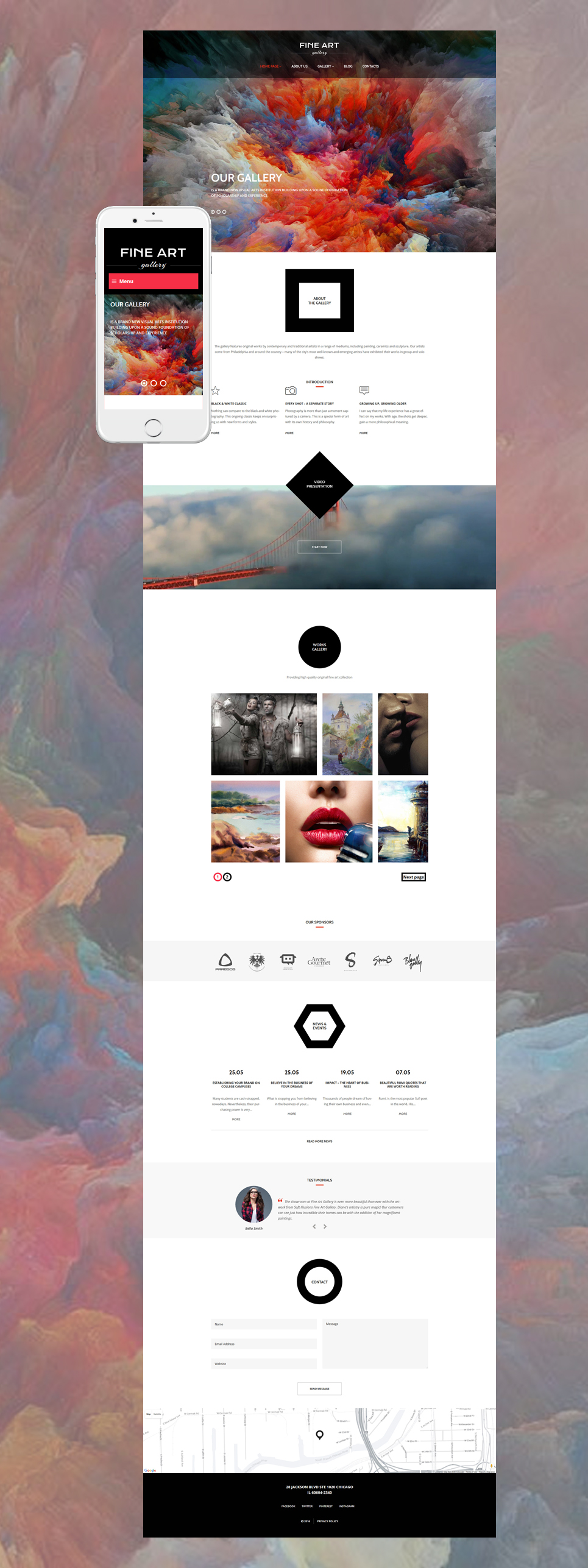 Art Gallery (theme for WordPress) Item Picture