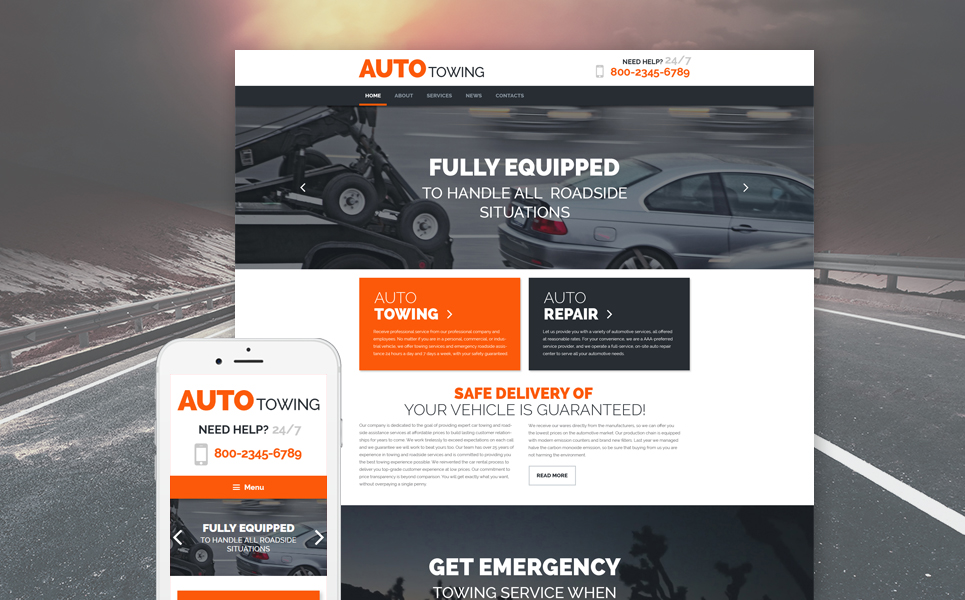 AutoTowing (WordPress template) Item Picture