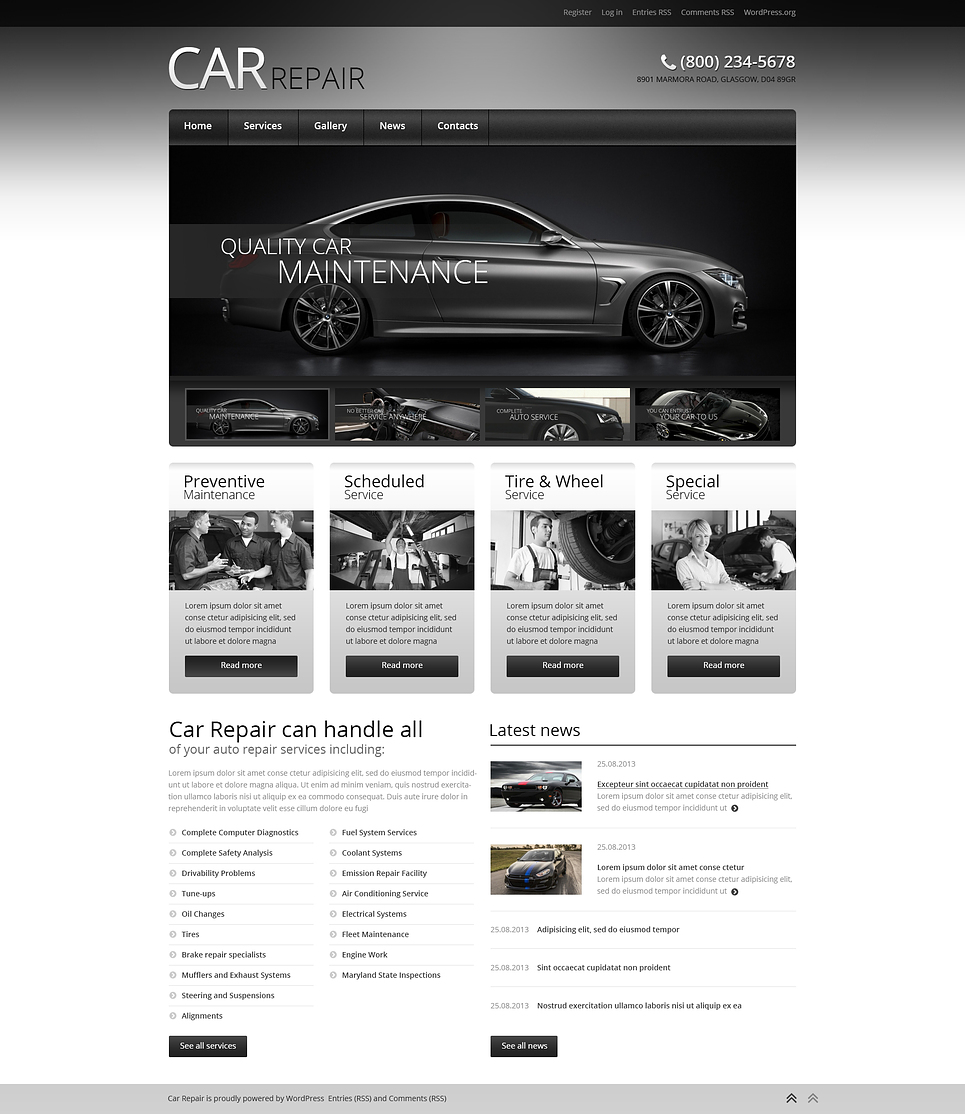 Car Repair (WordPress theme) Item Picture