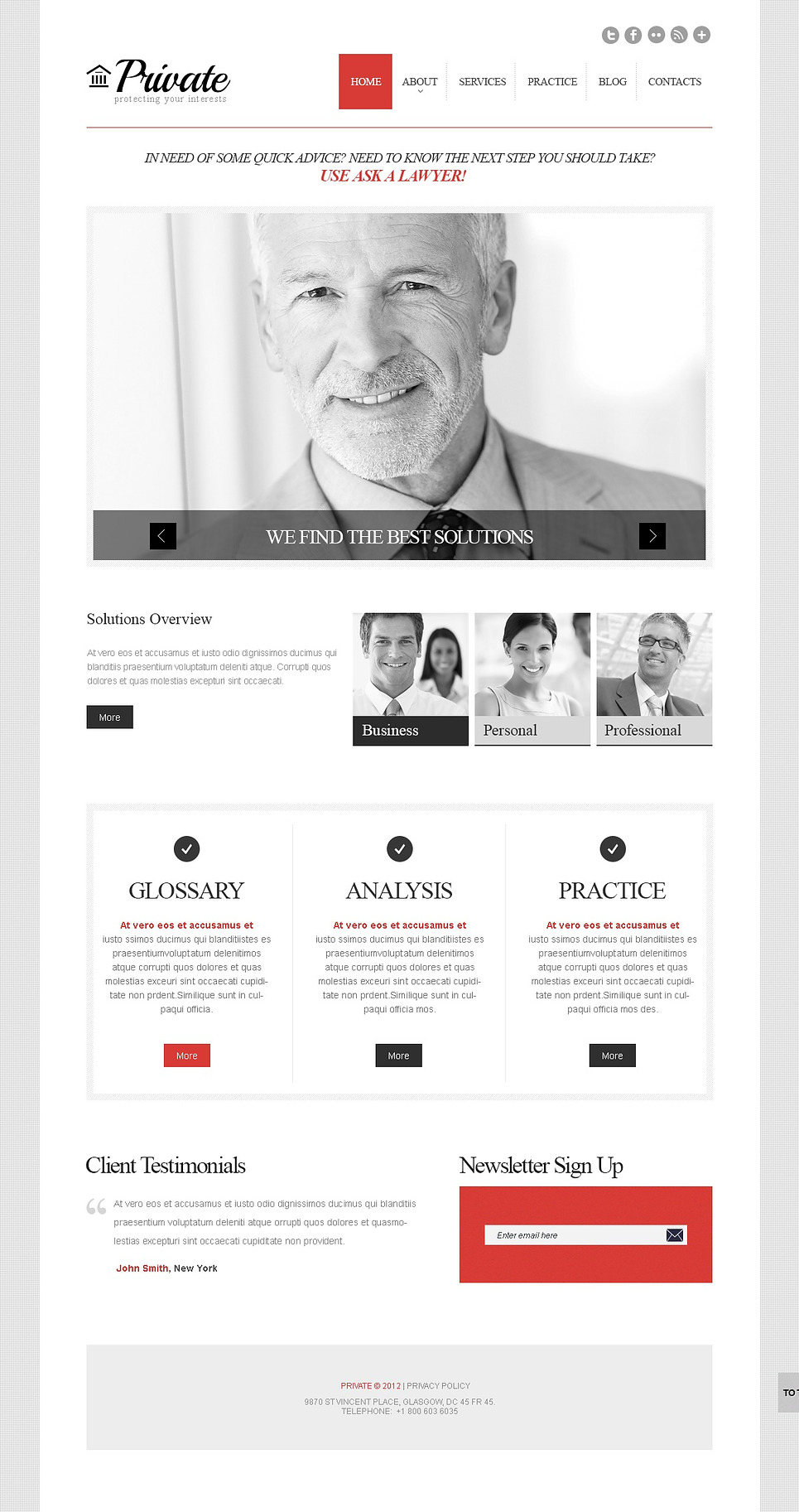 Cherry Law Firm (theme for WordPress) Item Picture