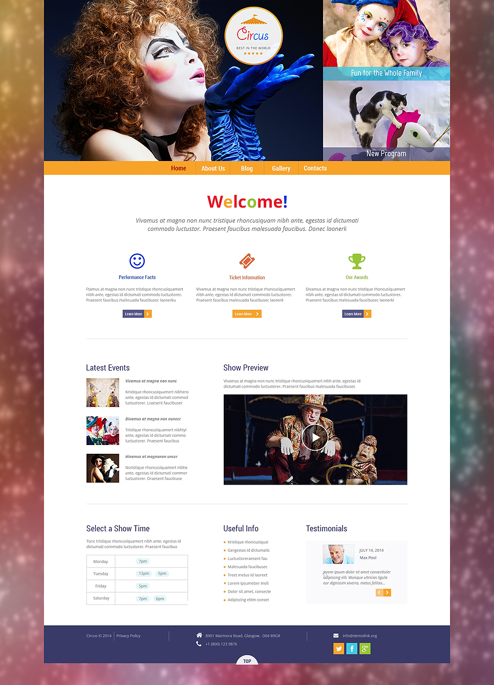 Circus Wonders (WordPress template) Item Picture