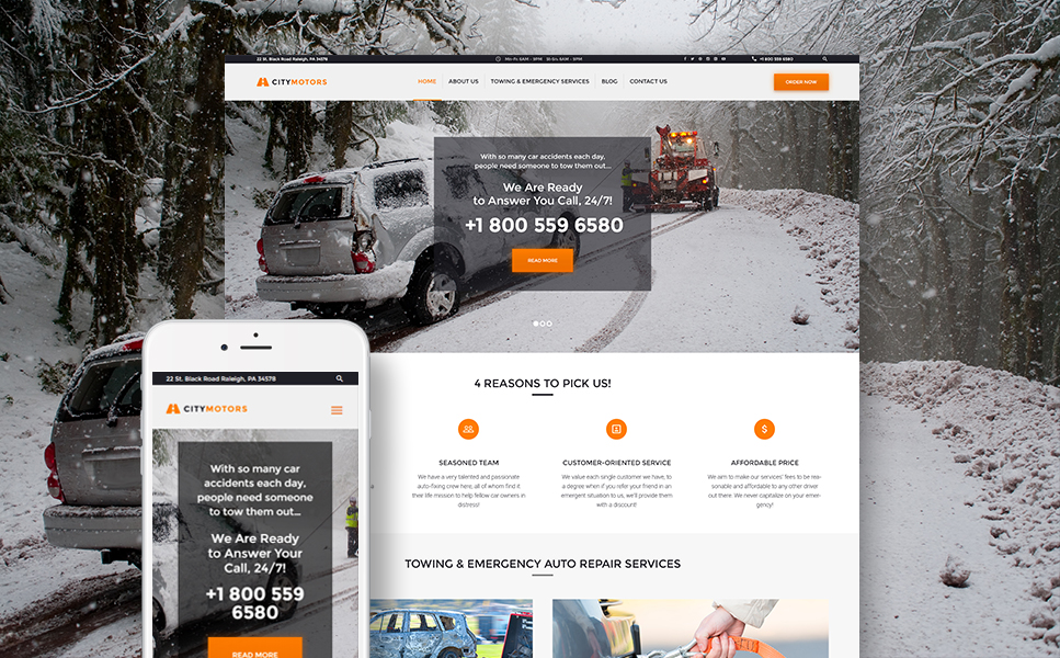 CityMotors (theme for your WordPress site) Item Picture