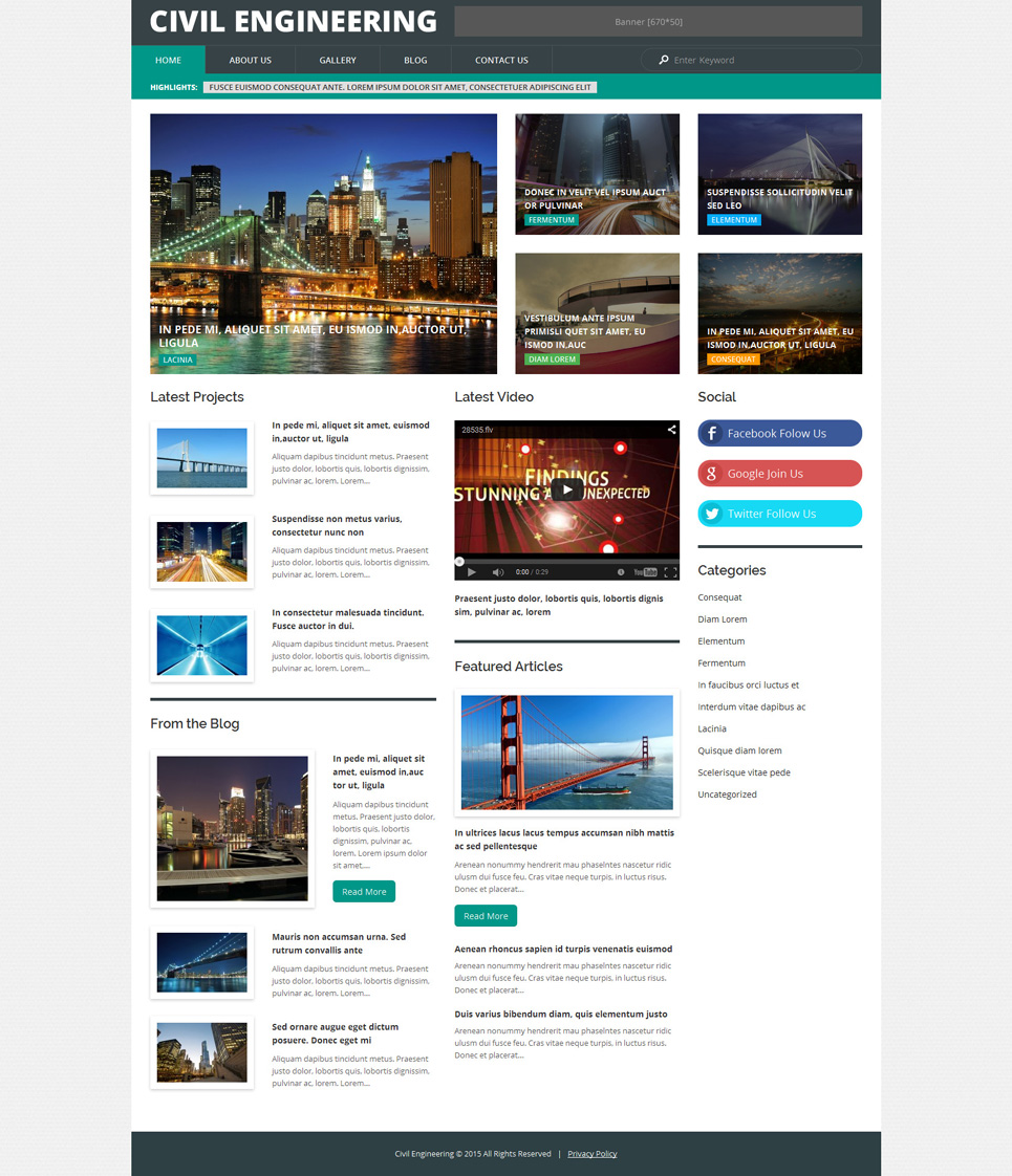 Civil Engineering (theme for WordPress) Item Picture