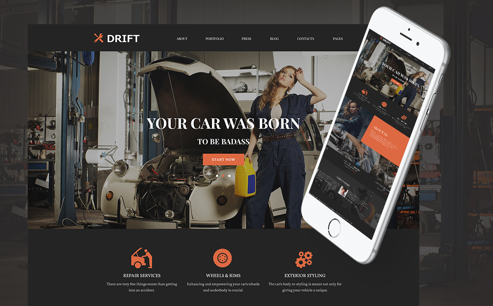 Drift (theme for your WordPress site) Item Picture