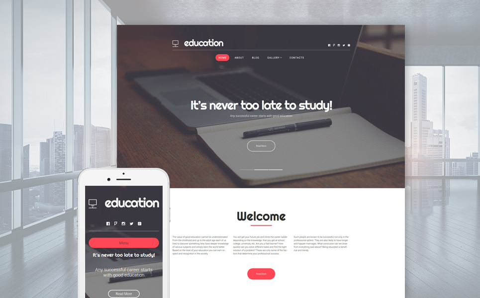 Education Hub (theme for your WordPress site) Item Picture