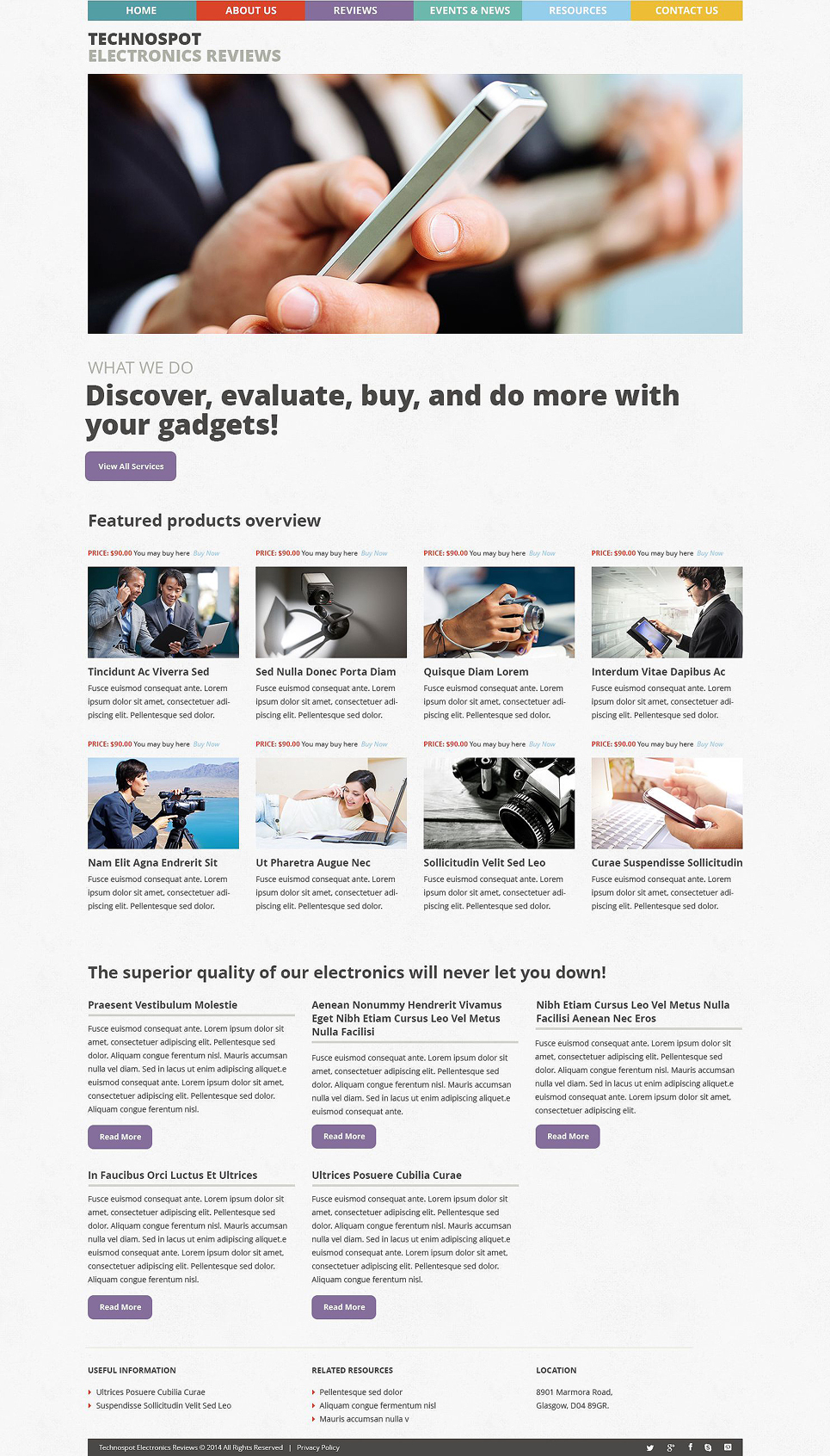 TechnoSpot (WordPress template) Item Picture