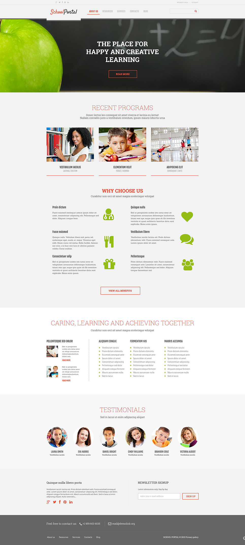 Elementary School (WordPress theme) Item Picture