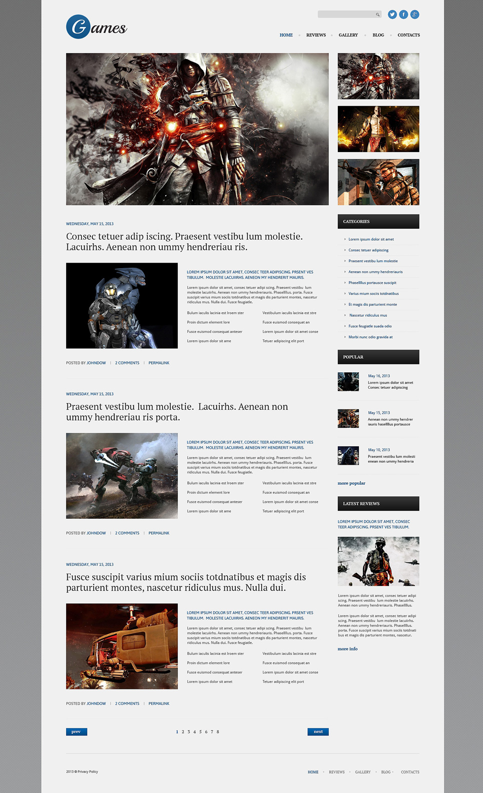 Games (website theme) Item Picture