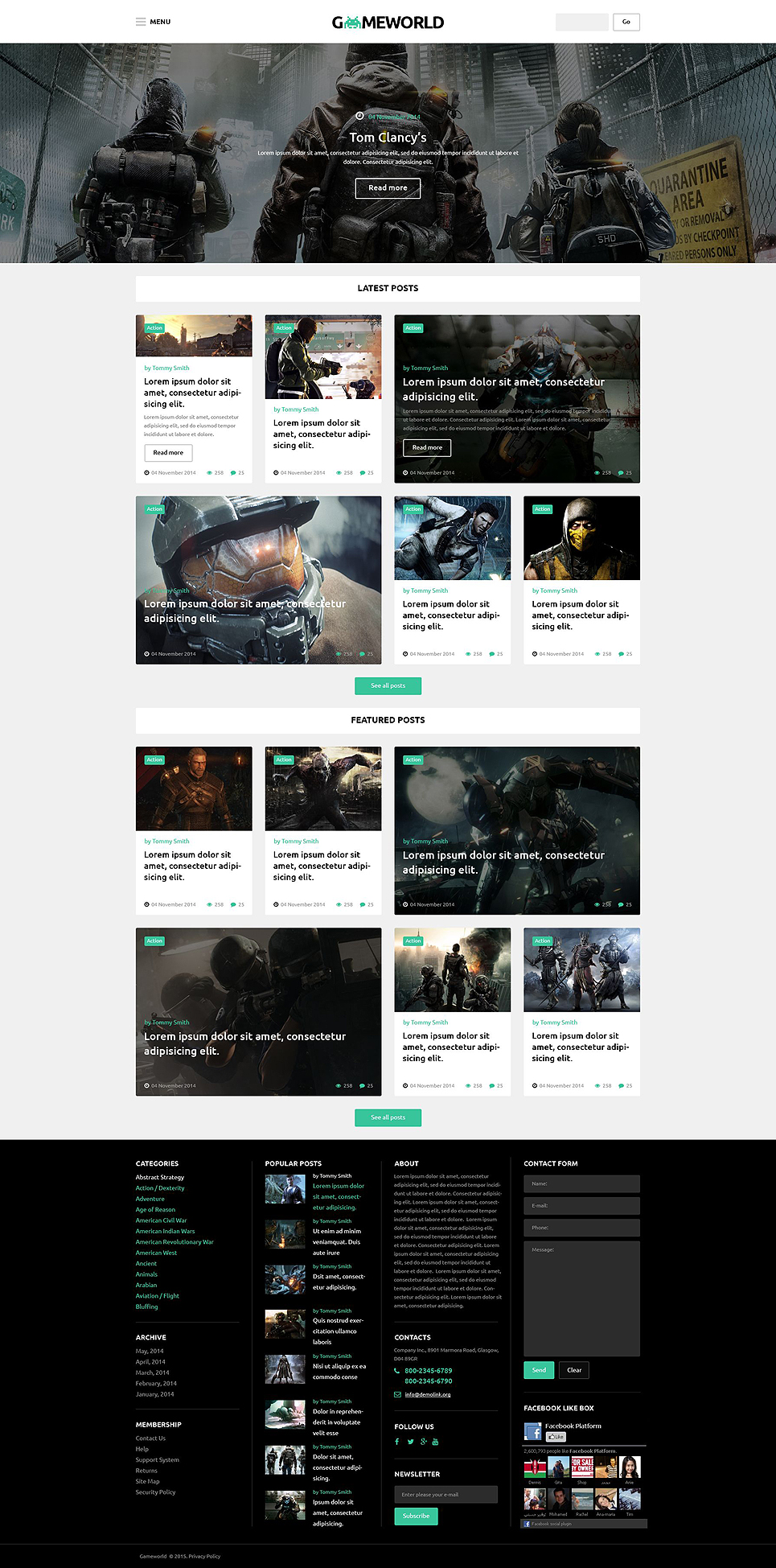 Gameworld (theme for your WordPress site) Item Picture