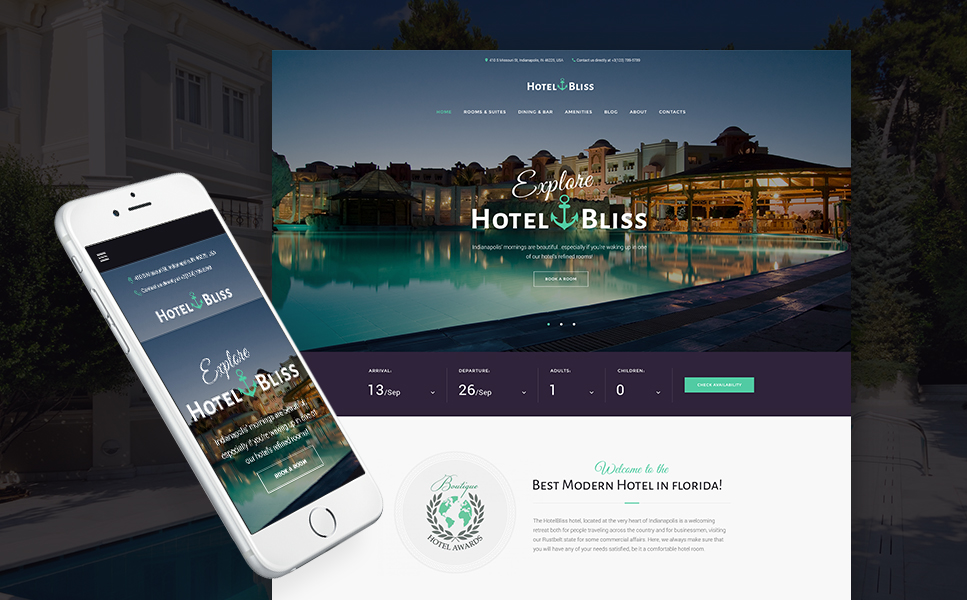 HotelBliss (WordPress template) Item Picture