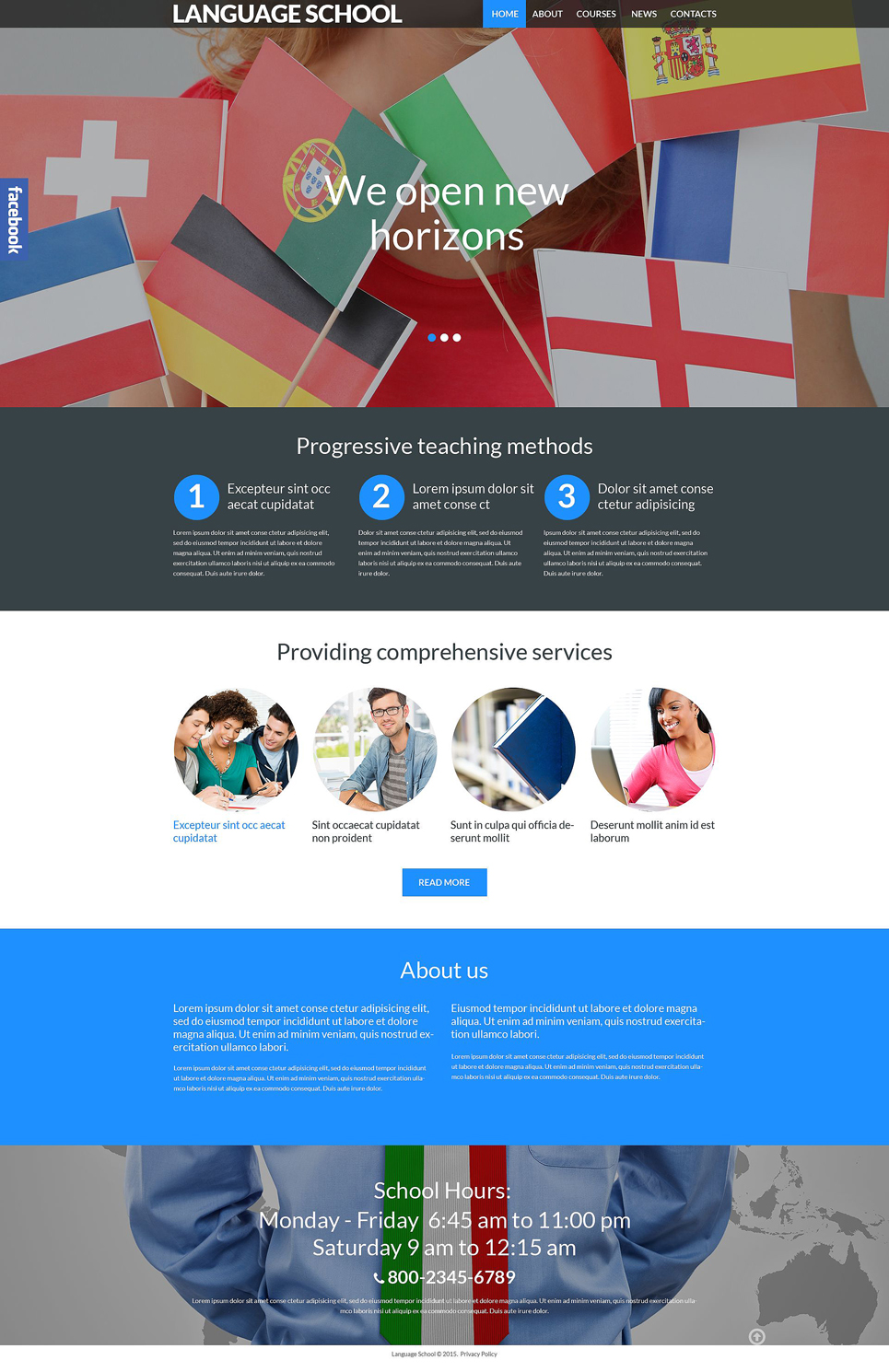 Language School (theme for WordPress) Item Picture