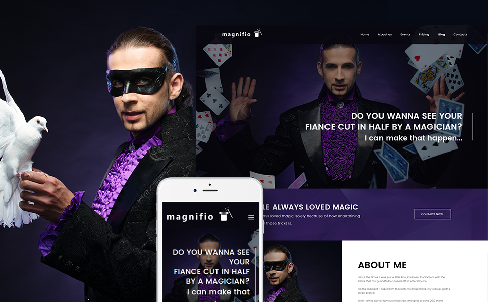 Magician Artist & Performer (theme for your WordPress site) Item Picture