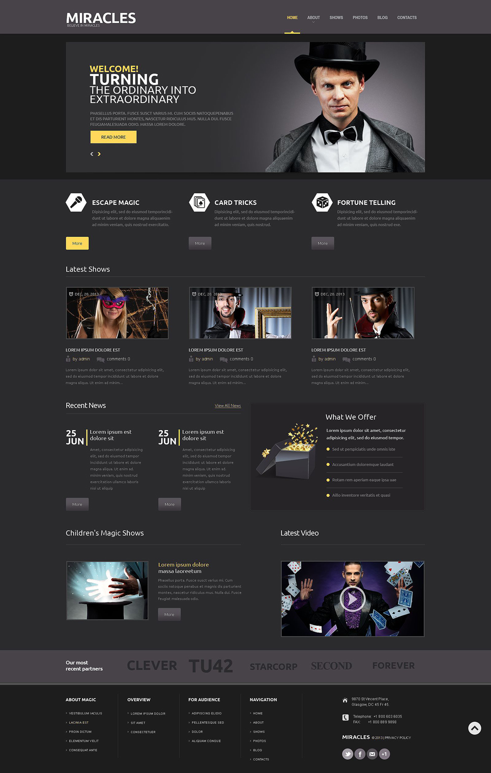 Magician (theme for WordPress) Item Picture