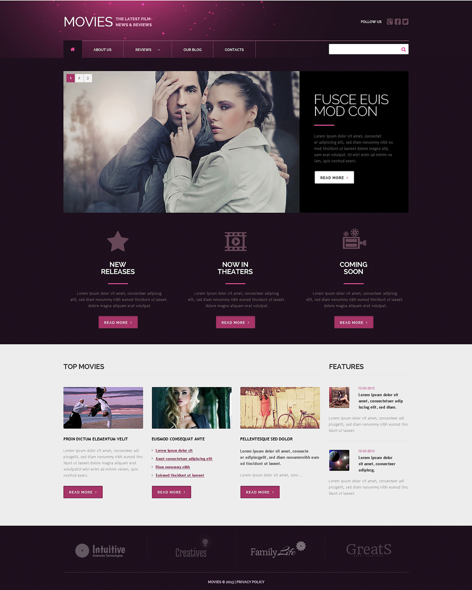 Movie Plus (theme for your WordPress site) Item Picture