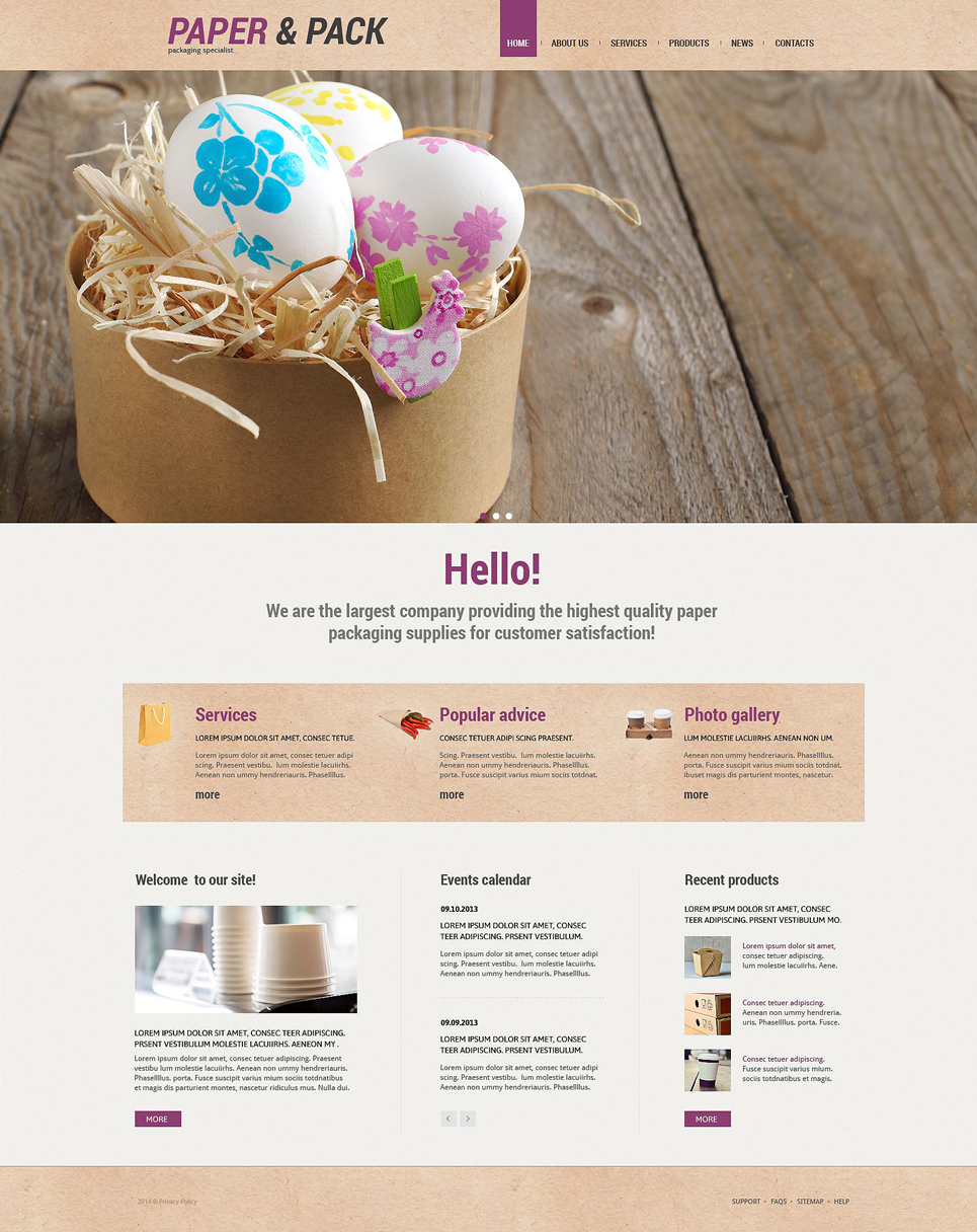 Packaging (WordPress template) Item Picture