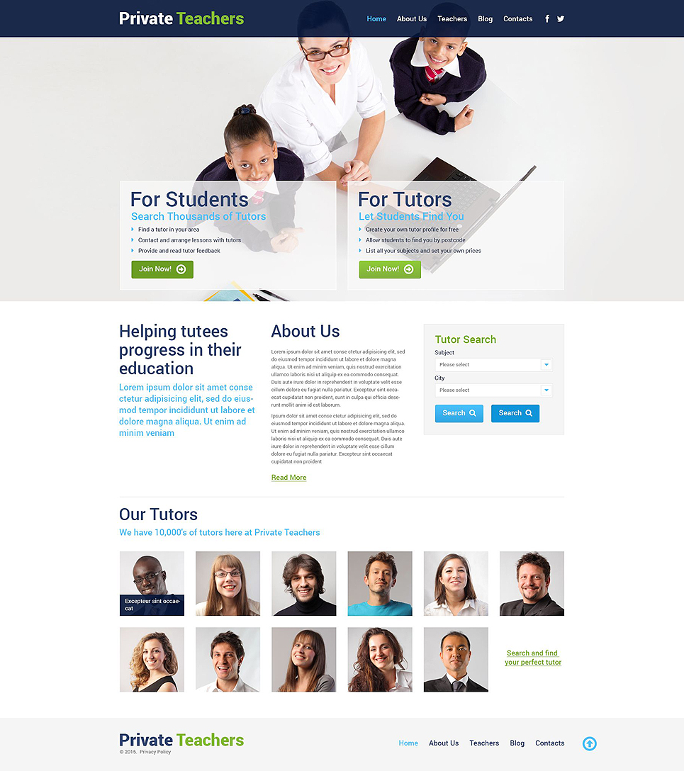 Private Teachers (theme for WordPress) Item Picture