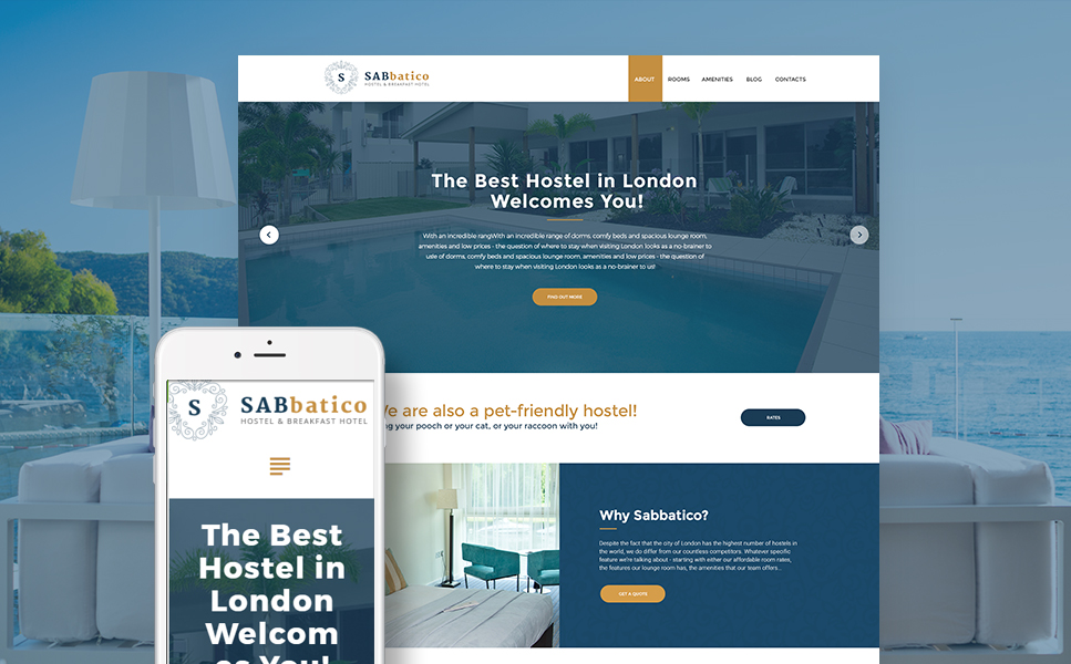 London Hostel (WordPress template) Item Picture