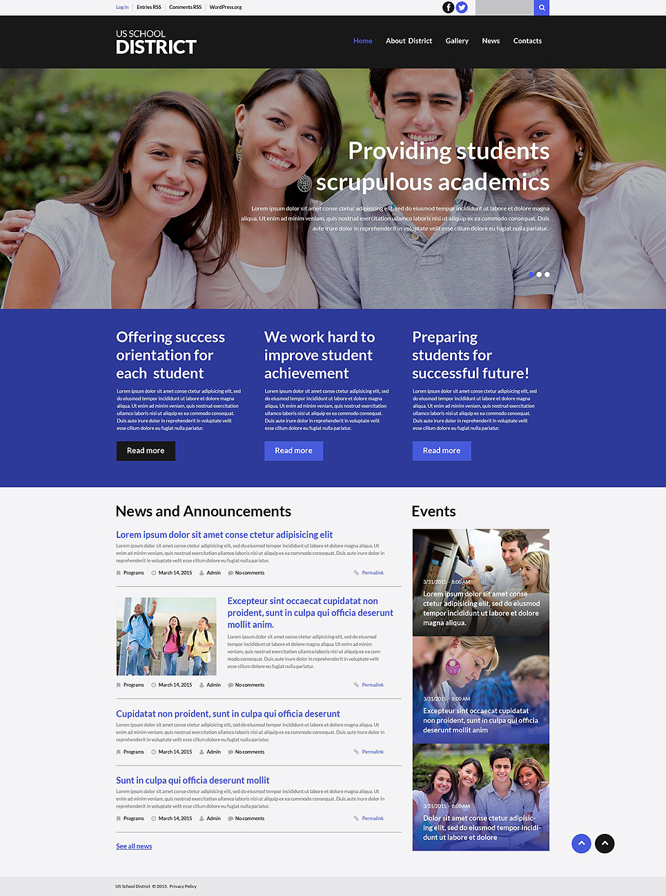 Schooling (theme for your WordPress site) Item Picture