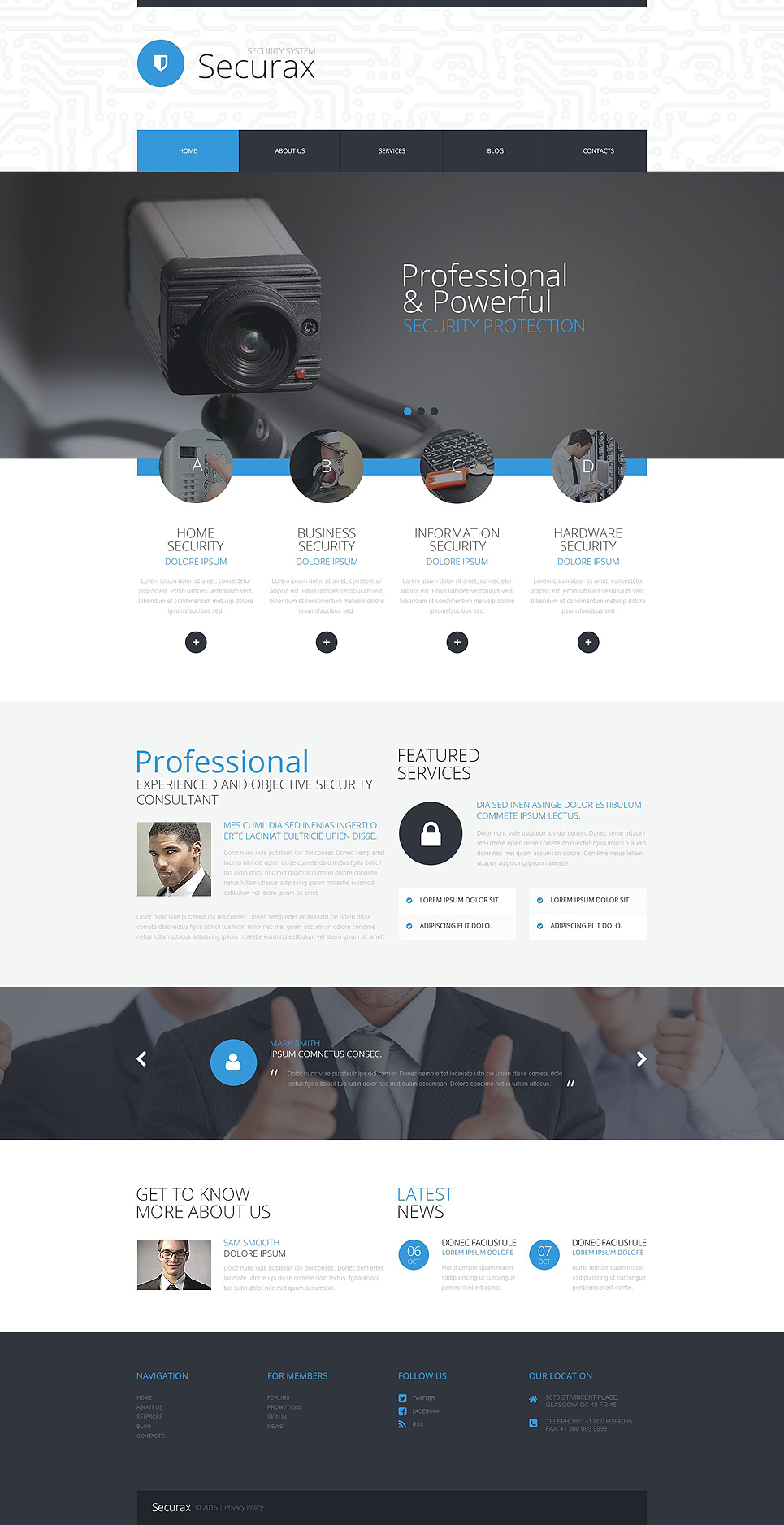 Securax Security Systems (theme for WordPress) Item Picture