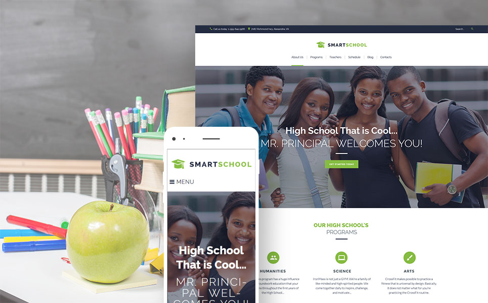 Smart School (WordPress theme) Item Picture