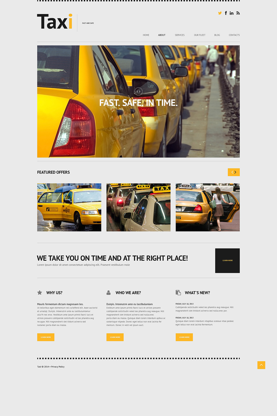 Taxi (theme for your WordPress site) Item Picture