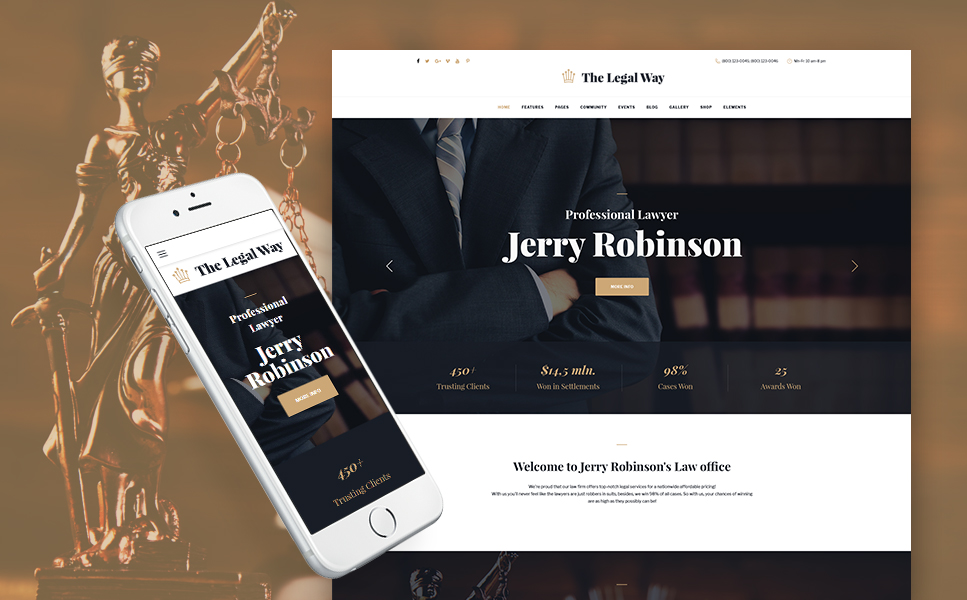 The Legal Way (WordPress template) Item Picture