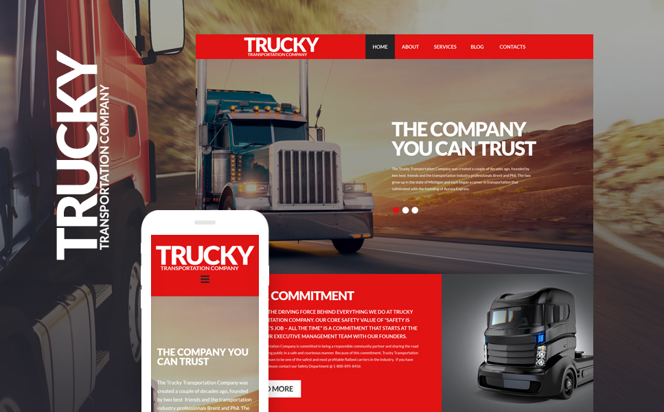 Trucky (WordPress template) Item Picture