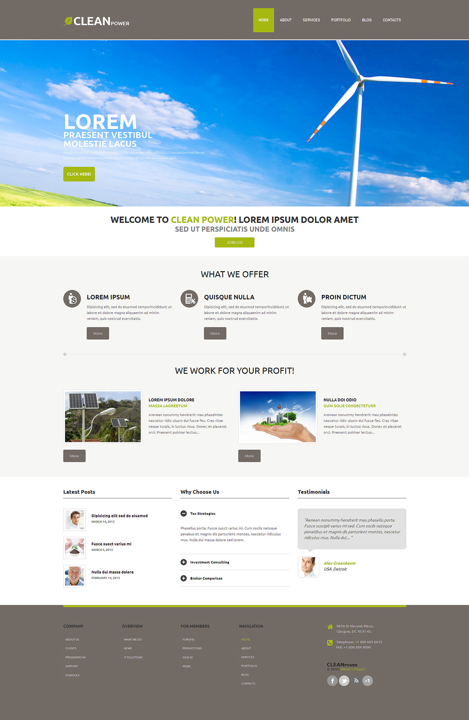 Wind Energy (WordPress template) Item Picture