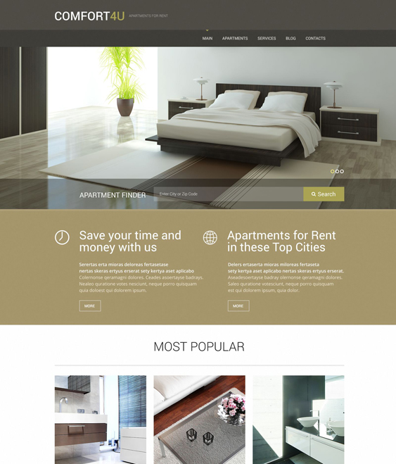 real estate wordpress themes apartments for rent