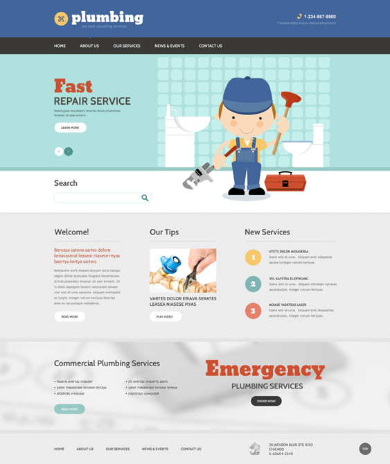 drupal themes construction companies building contractors