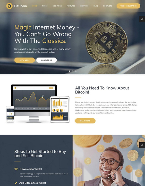 wordpress themes cryptocurrency bitcoin websites
