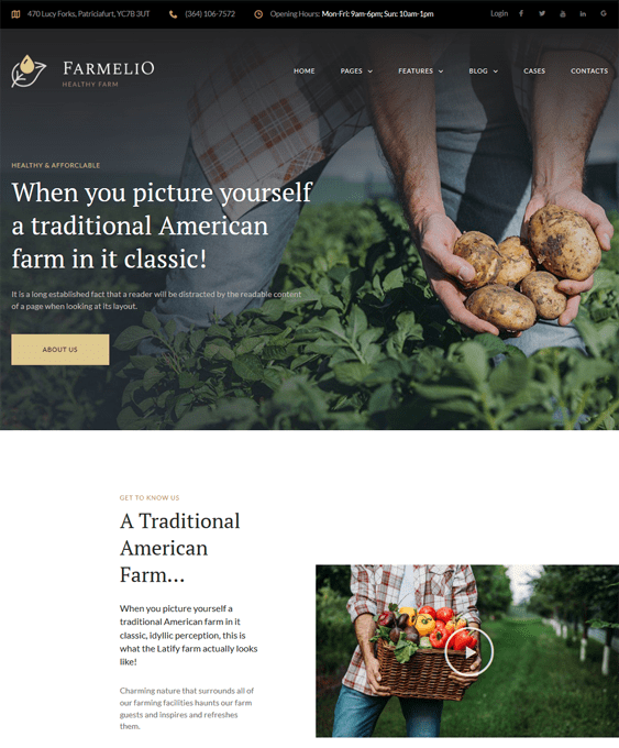 farm agriculture wordpress themes