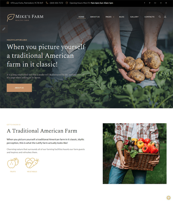 joomla templates farm agriculture websites