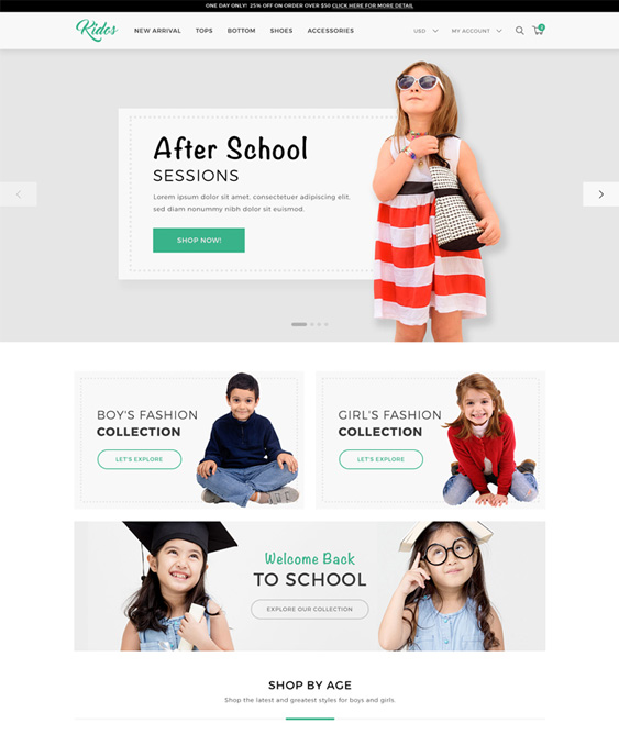 woocommerce theme kids babies children