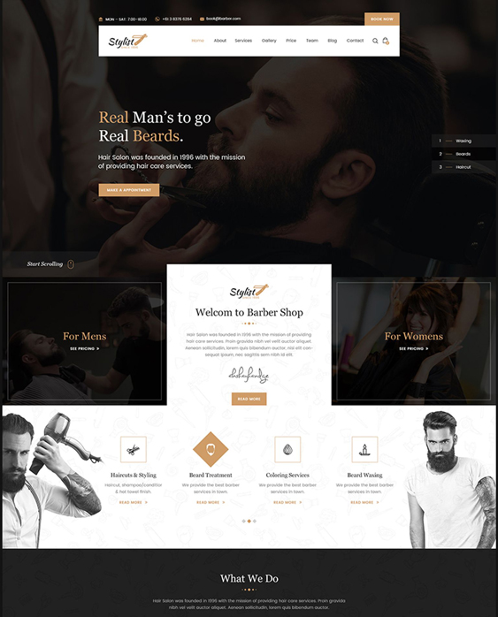 bootstrap website templates for spas and salons