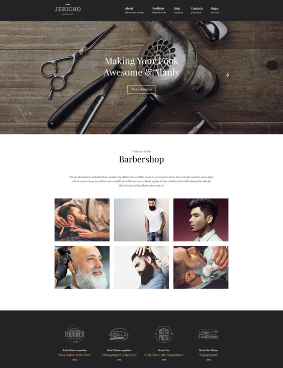 wordpress themes beauty salons spas hairstylists