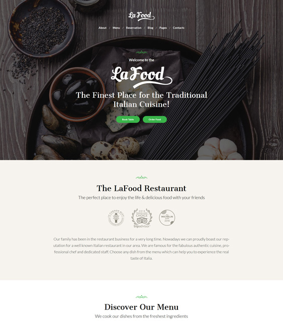 restaurant wordpress themes