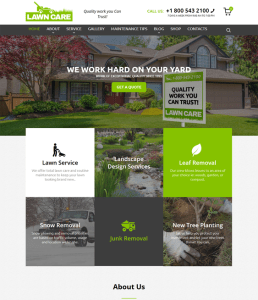 best wordpress themes gardeners landscaping companies feature