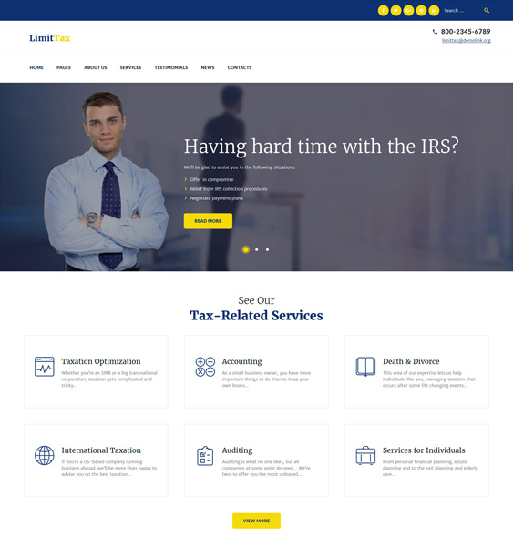 wordpress themes accountants accounting firms