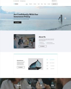 best bootstrap website templates insurance companies feature