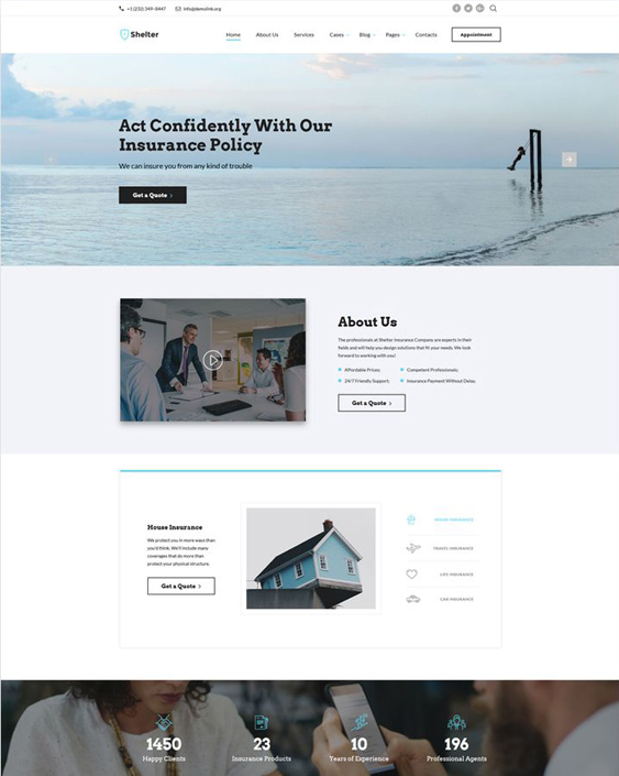 5 of the best bootstrap website templates for insurance companies bootstrap website templates insurance company maxwellsz