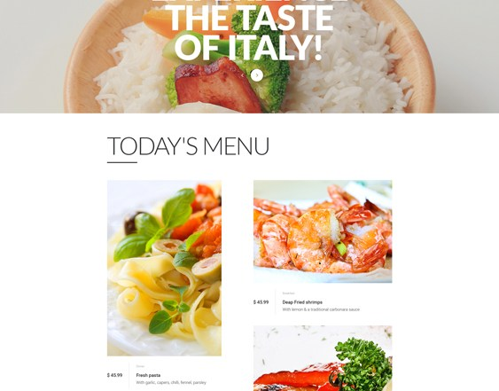 best bootstrap website templates for italian restaurants feature