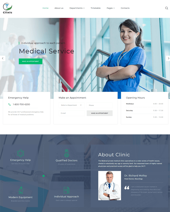 medical bootstrap website templates