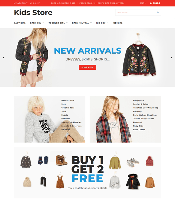kids shopify themes