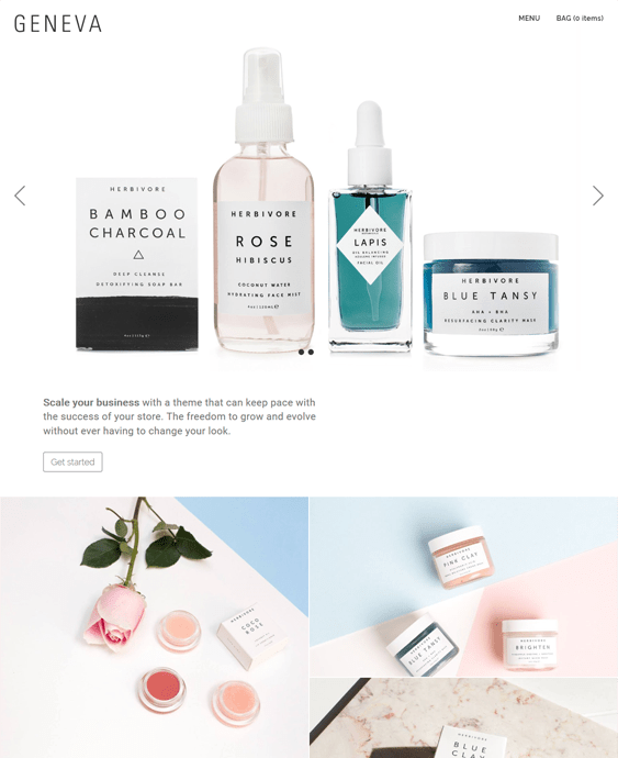 bigcommerce themes for makeup beauty products cosmetics